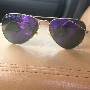 Purple Rayban Aviators